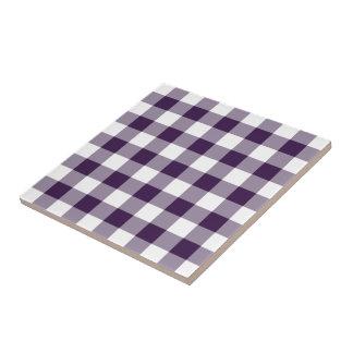 Modelo púrpura y blanco de la guinga azulejo cuadrado pequeño