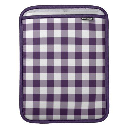 Modelo púrpura y blanco de la guinga funda para iPads