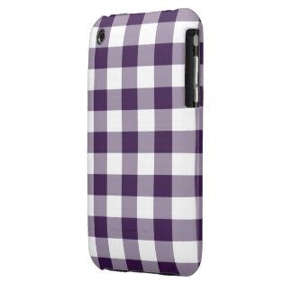 Modelo púrpura y blanco de la guinga iPhone 3 cobreturas