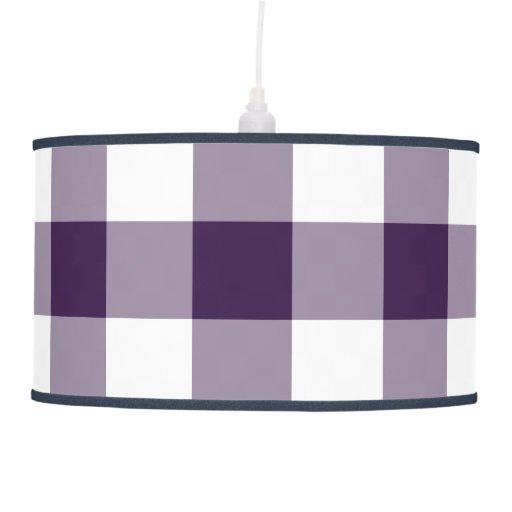 Modelo púrpura y blanco de la guinga lámpara de techo