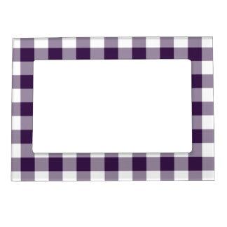 Modelo púrpura y blanco de la guinga marcos magnéticos