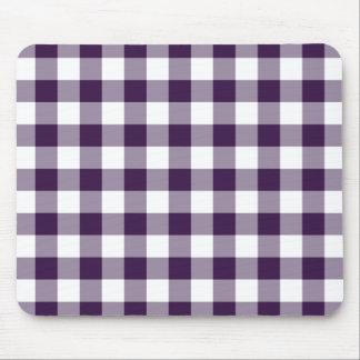 Modelo púrpura y blanco de la guinga mouse pad