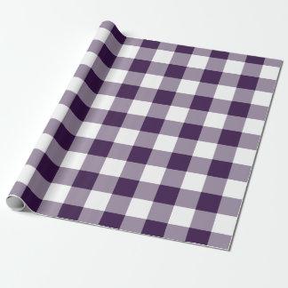 Modelo púrpura y blanco de la guinga papel de regalo