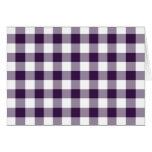 Modelo púrpura y blanco de la guinga tarjeta