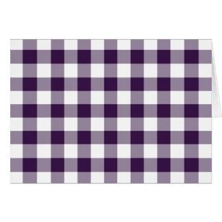 Modelo púrpura y blanco de la guinga tarjeta de felicitación