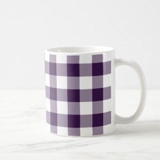 Modelo púrpura y blanco de la guinga taza