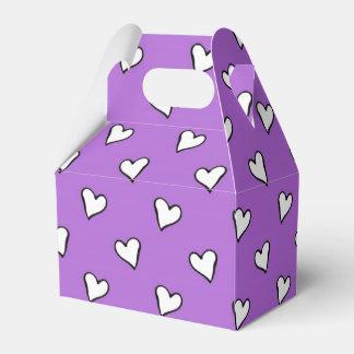 Modelo púrpura y blanco de la lavanda de los cajas para regalos