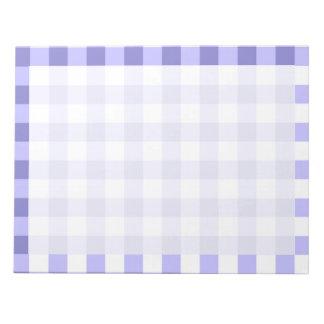 Modelo púrpura y blanco del control de la guinga blocs de notas