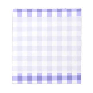 Modelo púrpura y blanco del control de la guinga libretas para notas