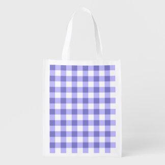 Modelo púrpura y blanco del control de la guinga bolsa para la compra