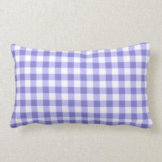 Modelo púrpura y blanco del control de la guinga almohadas