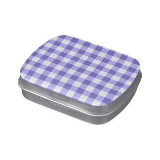 Modelo púrpura y blanco del control de la guinga frascos de dulces