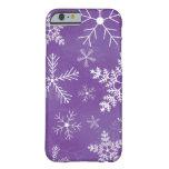 Modelo púrpura y blanco del copo de nieve