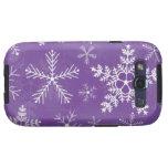 Modelo púrpura y blanco del copo de nieve galaxy SIII cárcasa