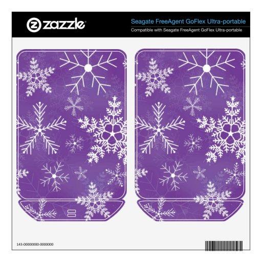 Modelo púrpura y blanco del copo de nieve FreeAgent GoFlex calcomanía