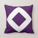 Modelo púrpura y blanco del diamante almohadas