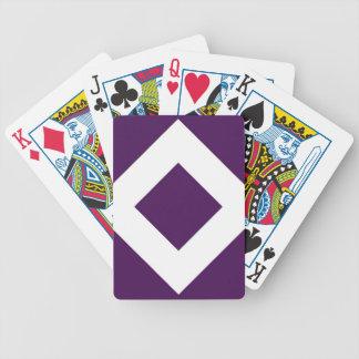Modelo púrpura y blanco del diamante baraja cartas de poker