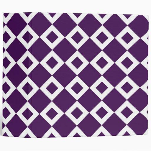 """Modelo púrpura y blanco del diamante carpeta 2"""""""
