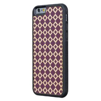 Modelo púrpura y blanco del diamante funda de iPhone 6 bumper arce