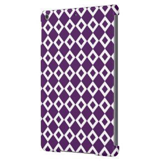 Modelo púrpura y blanco del diamante funda para iPad air