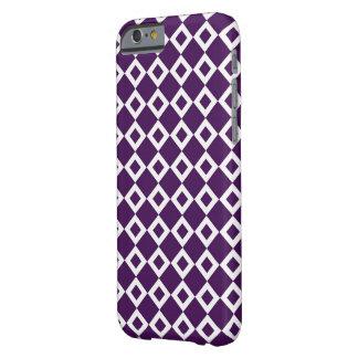 Modelo púrpura y blanco del diamante funda para iPhone 6 barely there