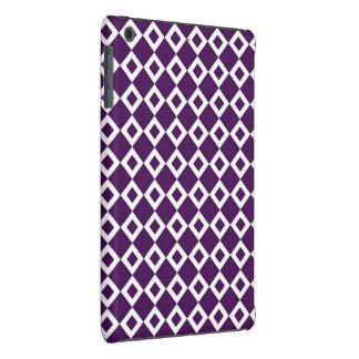 Modelo púrpura y blanco del diamante fundas de iPad mini retina
