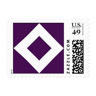 Modelo púrpura y blanco del diamante envio