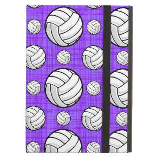 Modelo púrpura y blanco del voleibol