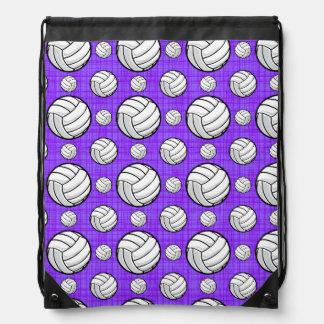 Modelo púrpura y blanco del voleibol mochila