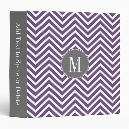 Modelo púrpura y gris de Chevron con el monograma