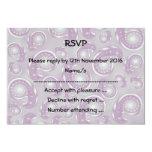 Modelo púrpura y gris pálido de Paisley Invitación 8,9 X 12,7 Cm