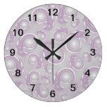 Modelo púrpura y gris pálido de Paisley Relojes