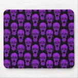 Modelo púrpura y negro de la apocalipsis del zombi alfombrillas de ratón
