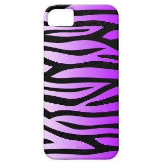 Modelo púrpura y negro de la cebra iPhone 5 coberturas