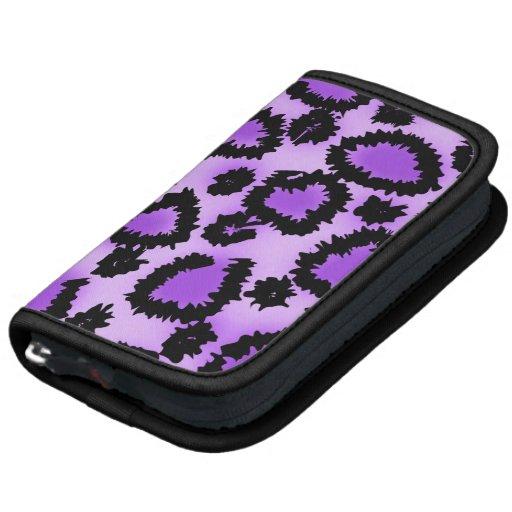 Modelo púrpura y negro del estampado leopardo organizador
