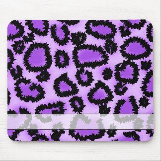 Modelo púrpura y negro del estampado leopardo alfombrilla de ratón