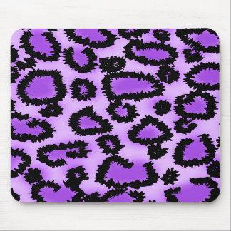 Modelo púrpura y negro del estampado leopardo tapete de ratón