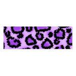 Modelo púrpura y negro del estampado leopardo tarjetas de visita mini