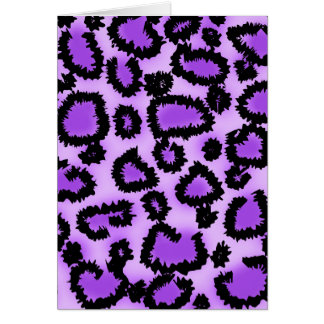 Modelo púrpura y negro del estampado leopardo tarjeta pequeña