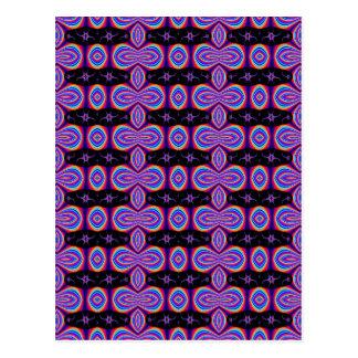 Modelo púrpura y negro del fractal postal