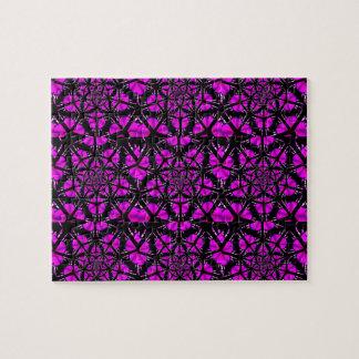 Modelo púrpura y negro del Hippie Rompecabezas