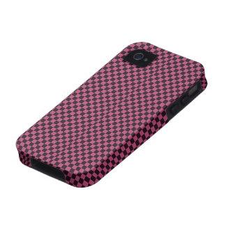 Modelo púrpura y negro retro del tablero de damas Case-Mate iPhone 4 carcasas