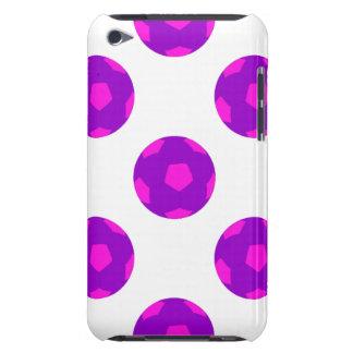 Modelo púrpura y rosado del balón de fútbol iPod touch Case-Mate fundas