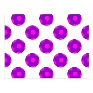 Modelo púrpura y rosado del balón de fútbol postal