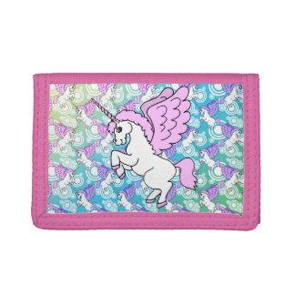 Modelo púrpura y rosado del unicornio