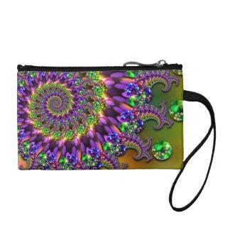 Modelo púrpura y verde del fractal de Bokeh