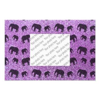 Modelo purpúreo claro del brillo del elefante fotografía