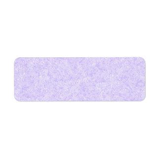 Modelo purpúreo claro del fondo etiqueta de remite