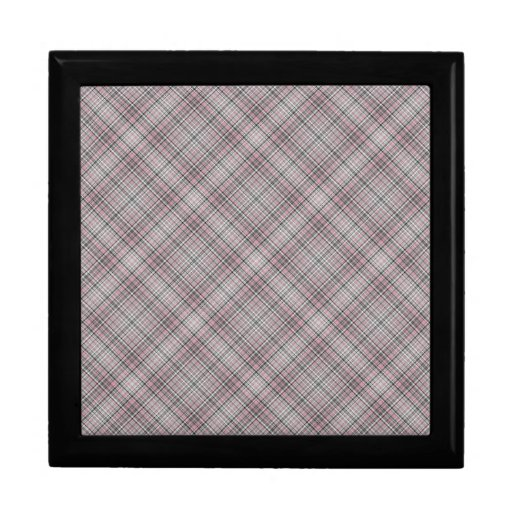 Modelo purpúreo claro y azul de la tela escocesa joyero cuadrado grande