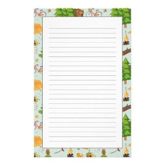 Modelo que acampa personalized stationery
